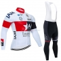IAM Cycling Jersey Kit Long Sleeve 2020 White Red Black
