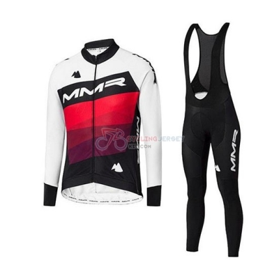 MMR Cycling Jersey Kit Long Sleeve 2020 White Black Red