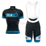 ALE Formula 1.0 Adriatico Short Sleeve Cycling Jersey and Bib Shorts Kit 2017 blue and black