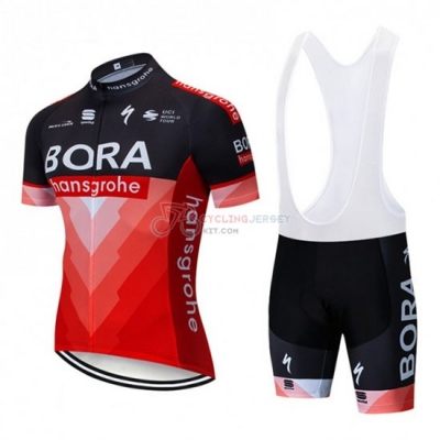 Bora Cycling Jersey Kit Short Sleeve 2019 Black Red