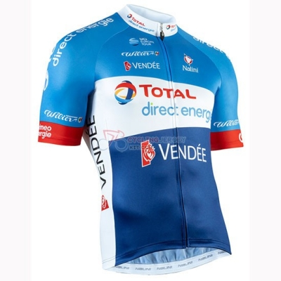 Direct Energie Cycling Jersey Kit Short Sleeve 2019 Blue White