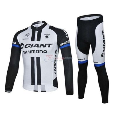 Giant Alpecin Cycling Jersey Kit Long Sleeve 2021 Black White