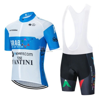 Israel Cycling Academy Cycling Jersey Kit Short Sleeve 2020 White Blue