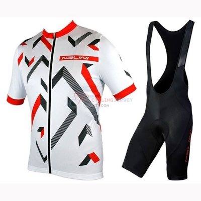 Nalini Descesa 2.0 Cycling Jersey Kit Short Sleeve 2019 White Red