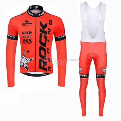 Rock Racing SIDI Cycling Jersey Kit Long Sleeve 2019 Orange