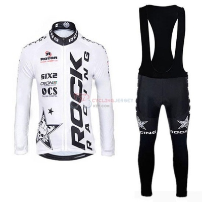 Rock Racing SIDI Cycling Jersey Kit Long Sleeve 2019 White Black