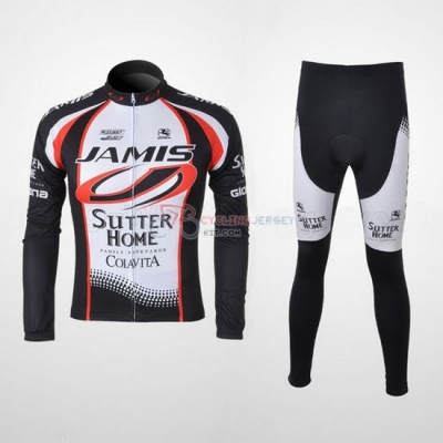 Giordana Cycling Jersey Kit Long Sleeve 2010 White And Black