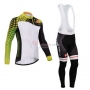 Castelli Cycling Jersey Kit Long Sleeve 2014 White And Yellow