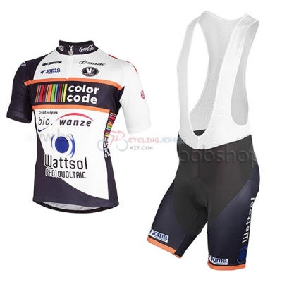 2013 Team Color Code black Short Sleeve Cycling Jersey And Bib Shorts Kit