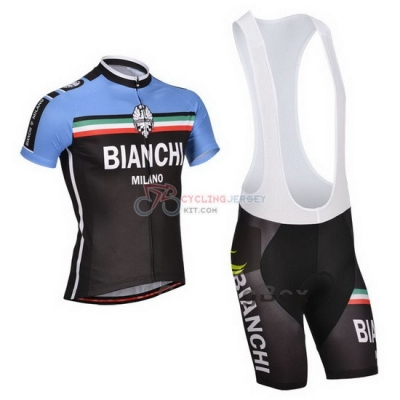 Bianchi Cycling Jersey Kit Short Sleeve 2014 Black And Blue