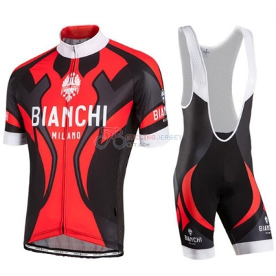 Bianchi Cycling Jersey Kit Short Sleeve 2016 Black And Red
