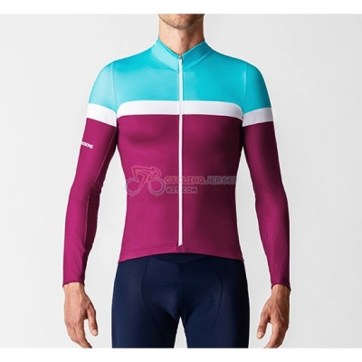 La Passione Cycling Jersey Kit Long Sleeve 2019 Blue White Red