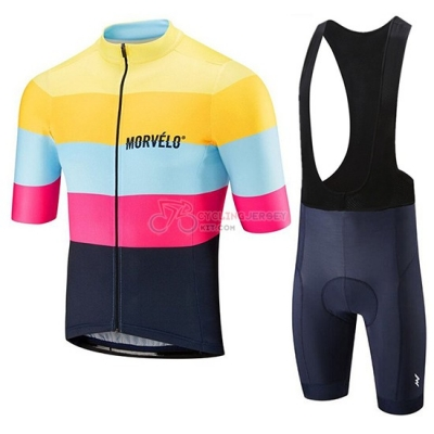 Morvelo Cycling Jersey Kit Short Sleeve 2019 Yellow Pink Black