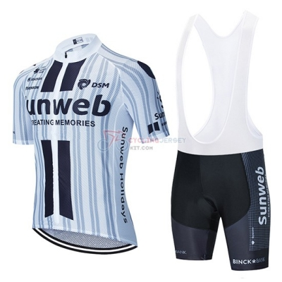 Sunweb Cycling Jersey Kit Short Sleeve 2020 White Black