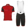 ALE Excel Short Sleeve Cycling Jersey and Bib Shorts Kit 2017 red