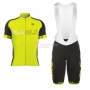 ALE Excel lumiere Short Sleeve Cycling Jersey and Bib Shorts Kit 2017 yellow