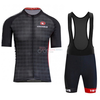 Columbus Cycling Jersey Kit Short Sleeve 2020 Black