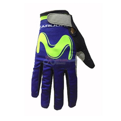 Movistar Long Finger Gloves 2017