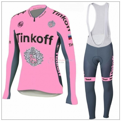 Tinkoff Cycling Jersey Kit Long Sleeve 2018 Pink