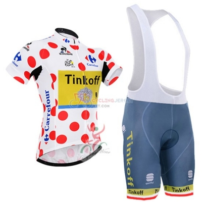 Tinkoff Cycling Jersey Kit Short Sleeve 2016 White And Red