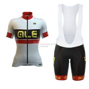 Women ALE Graphics Prr Bermuda Short Sleeve Cycling Jersey and Bib Shorts  Kit 2017 white cc437c81d
