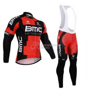 BMC Cycling Jersey Kit Long Sleeve 2015 Black And Orange 15fecd3b2