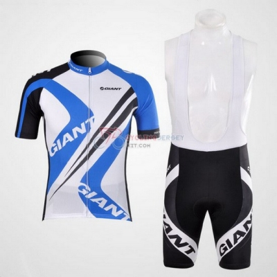 Giant Cycling Jersey Kit Short Sleeve 2012 Sky Blue And White