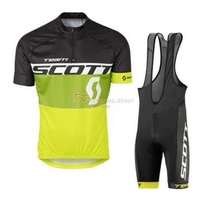 Scott Cycling Jersey Kit Short Sleeve 2016 Yellow And Black