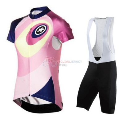 Women Cycling Jersey Kit Assos Short Sleeve 2016 Yellow And Pink
