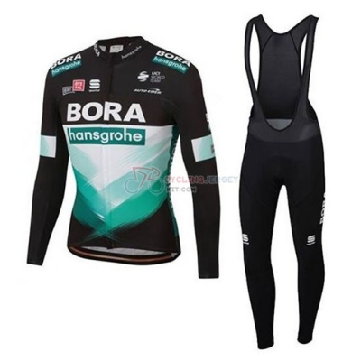 Bora-Hansgrone Cycling Jersey Kit Short Sleeve 2020 Blue Black