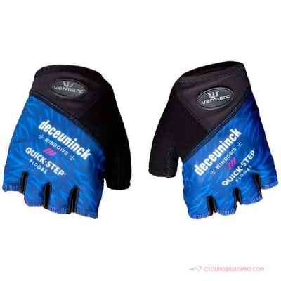 2021 Deceuninck Quick Step Short Finger Gloves