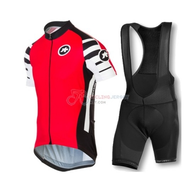 Assos Cycling Jersey Kit Short Sleeve 2016 Black And Red