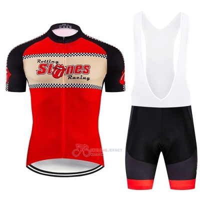 Rolling Cycling Jersey Kit Short Sleeve 2020 Red Beige