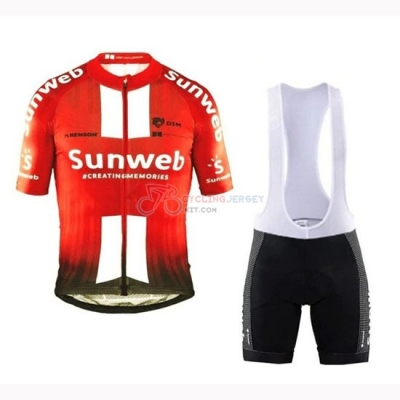 Sunweb Cycling Jersey Kit Short Sleeve 2019 Orange White