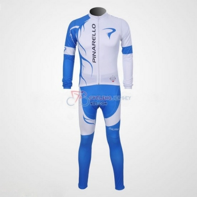 Pinarello Cycling Jersey Kit Long Sleeve 2011 Sky Blue And White