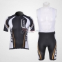 Look Cycling Jersey Kit Short Sleeve 2011 Black And White