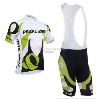 Pearl Izumi Cycling Jersey Kit Short Sleeve 2013 White And Green