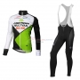2016 Team Multivan Merida Manica green white Long Sleeve Cycling Jersey And Bib Pants Kit