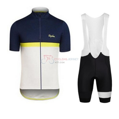 Rapha Cycling Jersey Kit Short Sleeve 2016 Blue And White