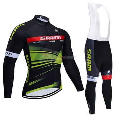 Sram Cycling Jersey Kit Long Sleeve 2020 Black Green
