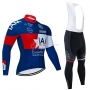IAM Cycling Jersey Kit Long Sleeve 2020 White Red Blue