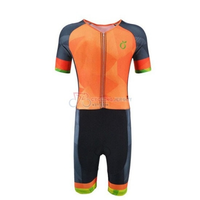 Emonder-triathlon Cycling Jersey Kit Short Sleeve 2019 Orange Gray Black