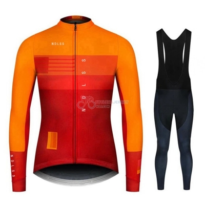 NDLSS Cycling Jersey Kit Long Sleeve 2020 Yellow Orange