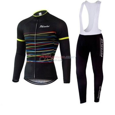 Phtxolue Cycling Jersey Kit Long Sleeve 2019 Black Yellow