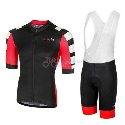 RH+ Stratos Cycling Jersey Kit Short Sleeve 2018 Black Red