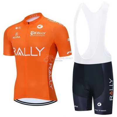 Rally Cycling Jersey Kit Short Sleeve 2021 Orange