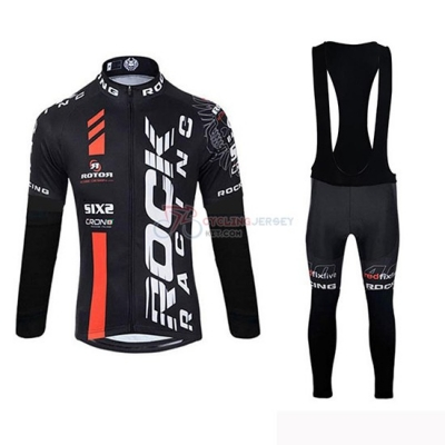 Rock Racing SIDI Cycling Jersey Kit Long Sleeve 2019 Black