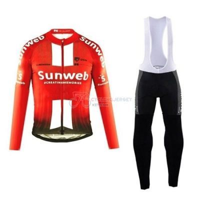 Sunweb Cycling Jersey Kit Long Sleeve 2019 Orange White