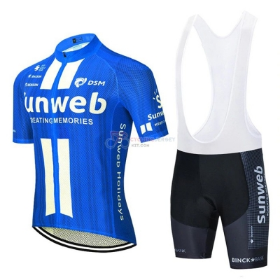 Sunweb Cycling Jersey Kit Short Sleeve 2020 Blue White