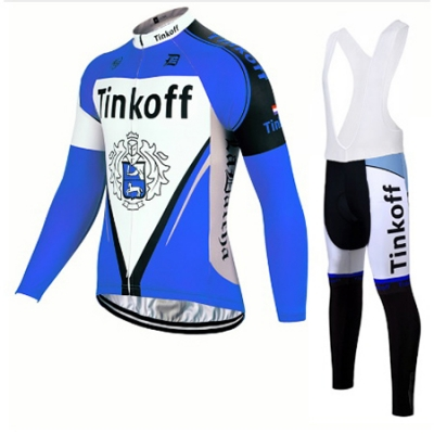 Tinkoff Cycling Jersey Kit Long Sleeve 2017 blue